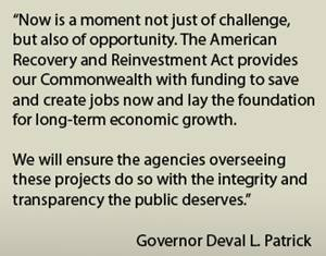 A quotation by Governor Deval L. Patrick: